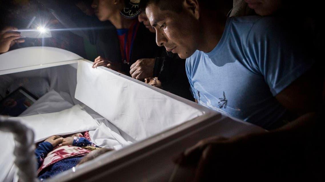 Guatemalan child Jakelin Caal's funeral. (AP)