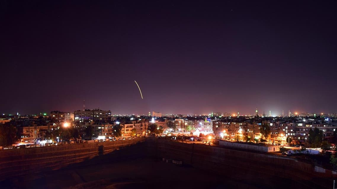 A handout picture released by the official Syrian Arab News Agency (SANA) on September 15, 2018, reportedly shows Syrian air defence batteries responding to what the Syrian state media said were Israeli missiles targeting Damascus airport. (File photo: AFP)