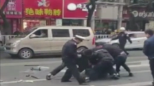 WATCH: Eight killed in China as hijacked bus crashes into pedestrians