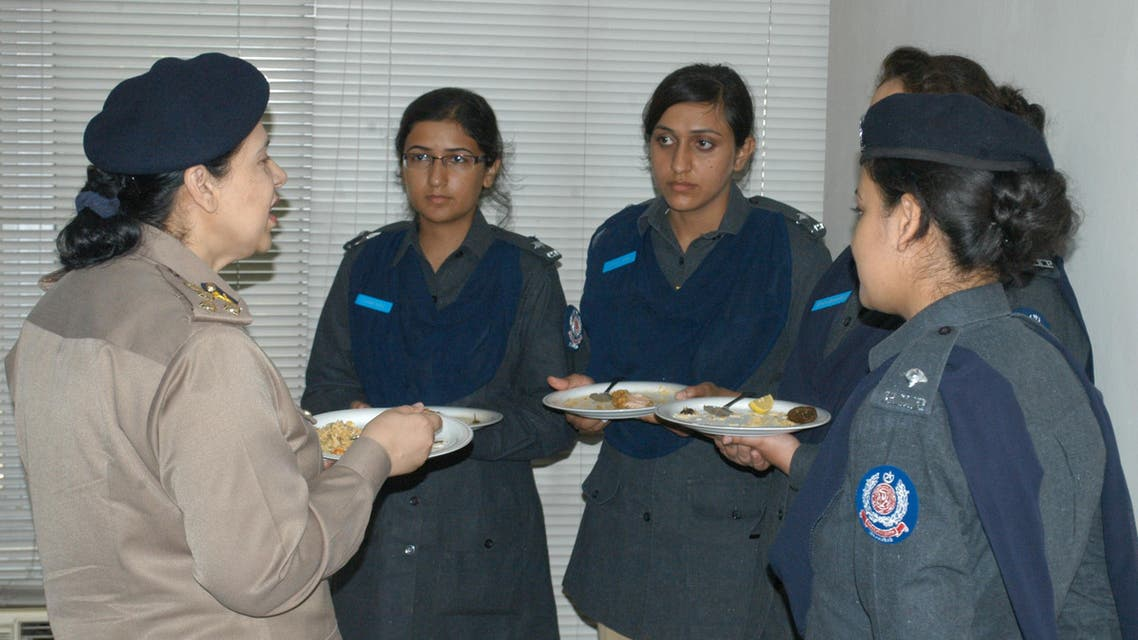 Additional Inspector General of police Helena Saeed Iqbal speaking to newly-appointed women police officers. (Supplied)