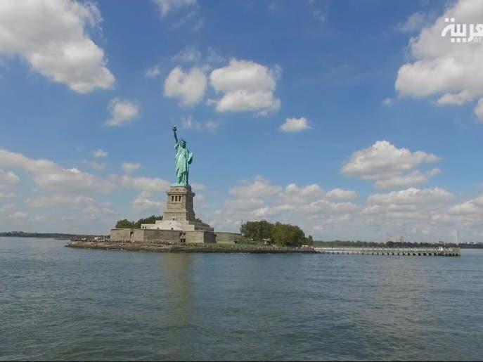 #السياحة_عبر_العربية :عند تمثال الحرية