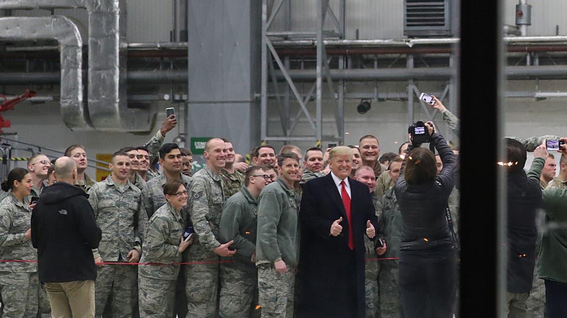 ترمب خلال زيارة العراق