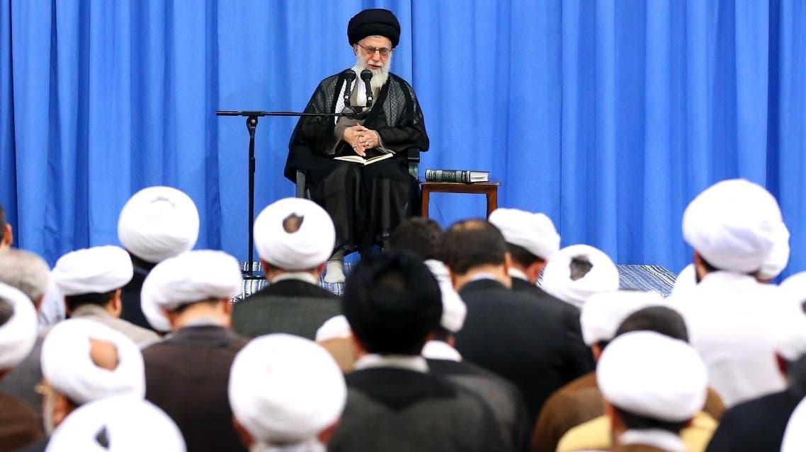 Iran Khamenei clerics. (AFP)
