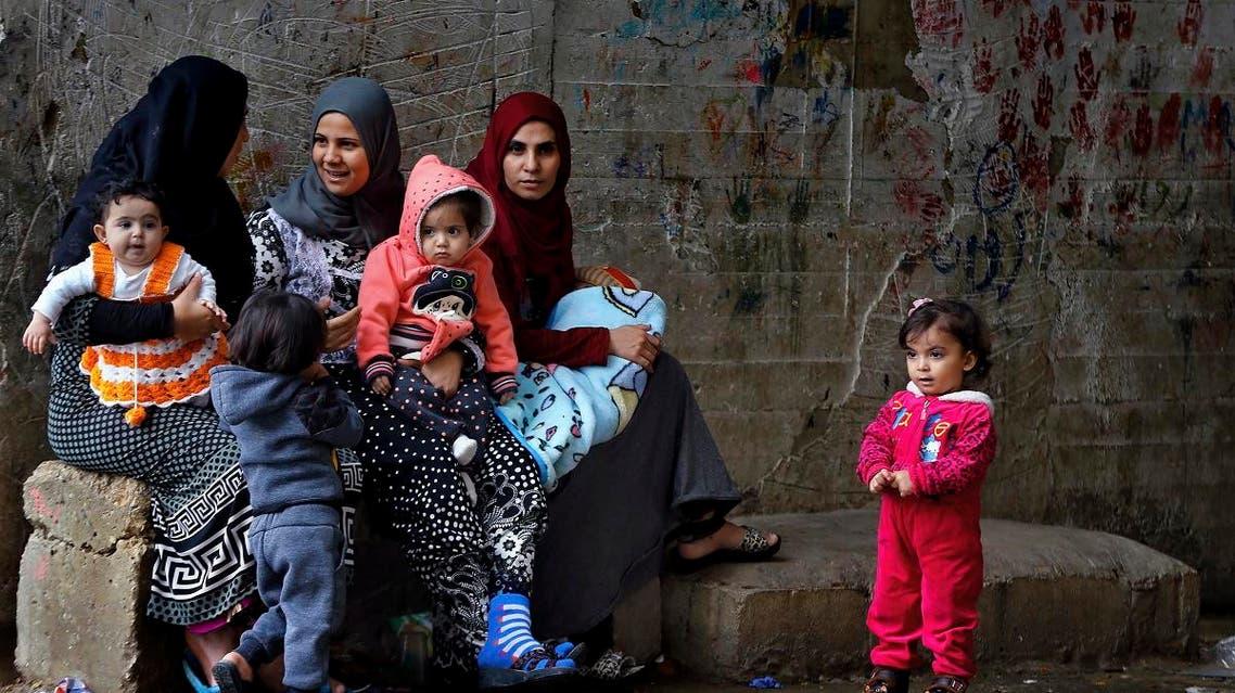 Syrian refugees in Lebanon. (AP)