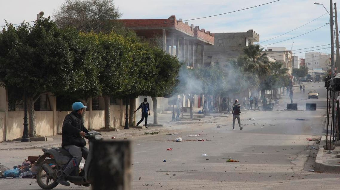 Tunisia protests. (AFP)