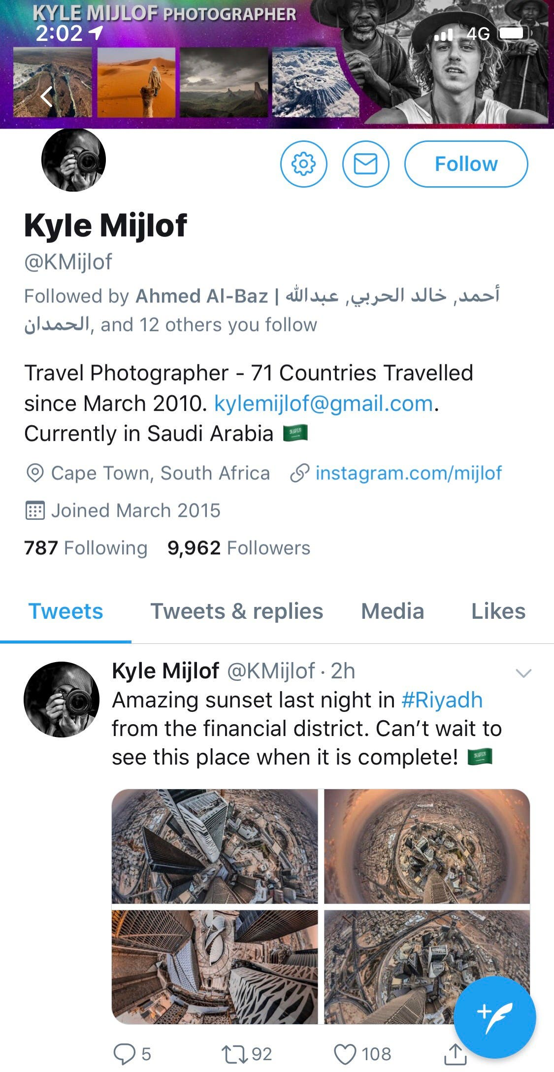 International travel photographer Kyle Mijlof has visited 70 countries around the world. (Al Arabiya)