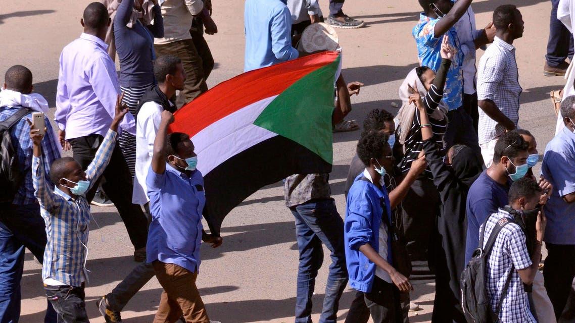 من تظاهرات السودان يوم 25 ديسمبر(رويترز)
