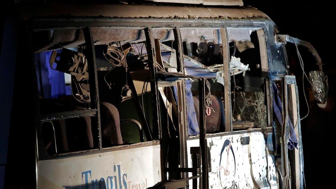 Egypt bus explosion. (AP)