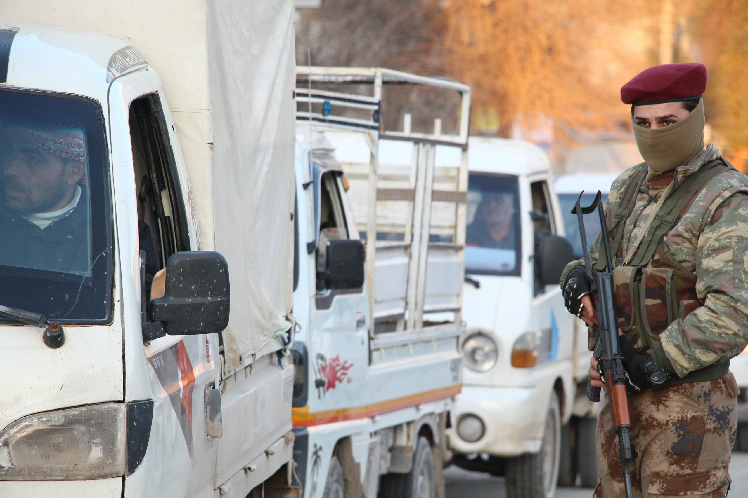 عناصر من الشرطة العسكرية لقوات سوريا الديمقراطية بمنبج
