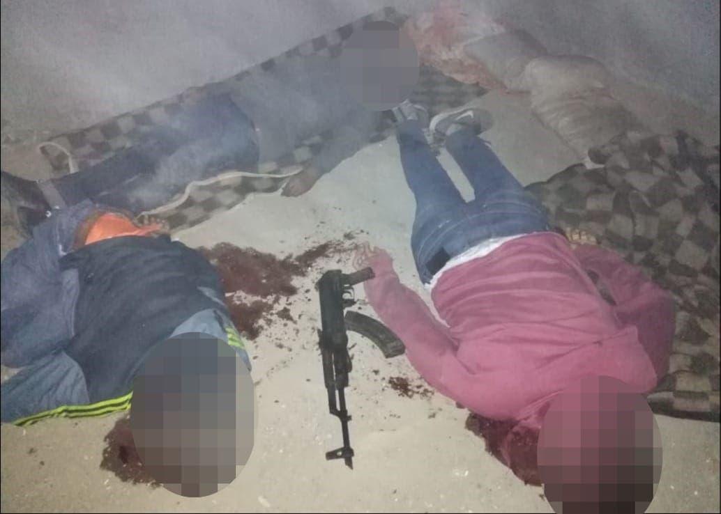 صورة الارهابيين الذين قتلوا في مداهمات القوى الأمنية