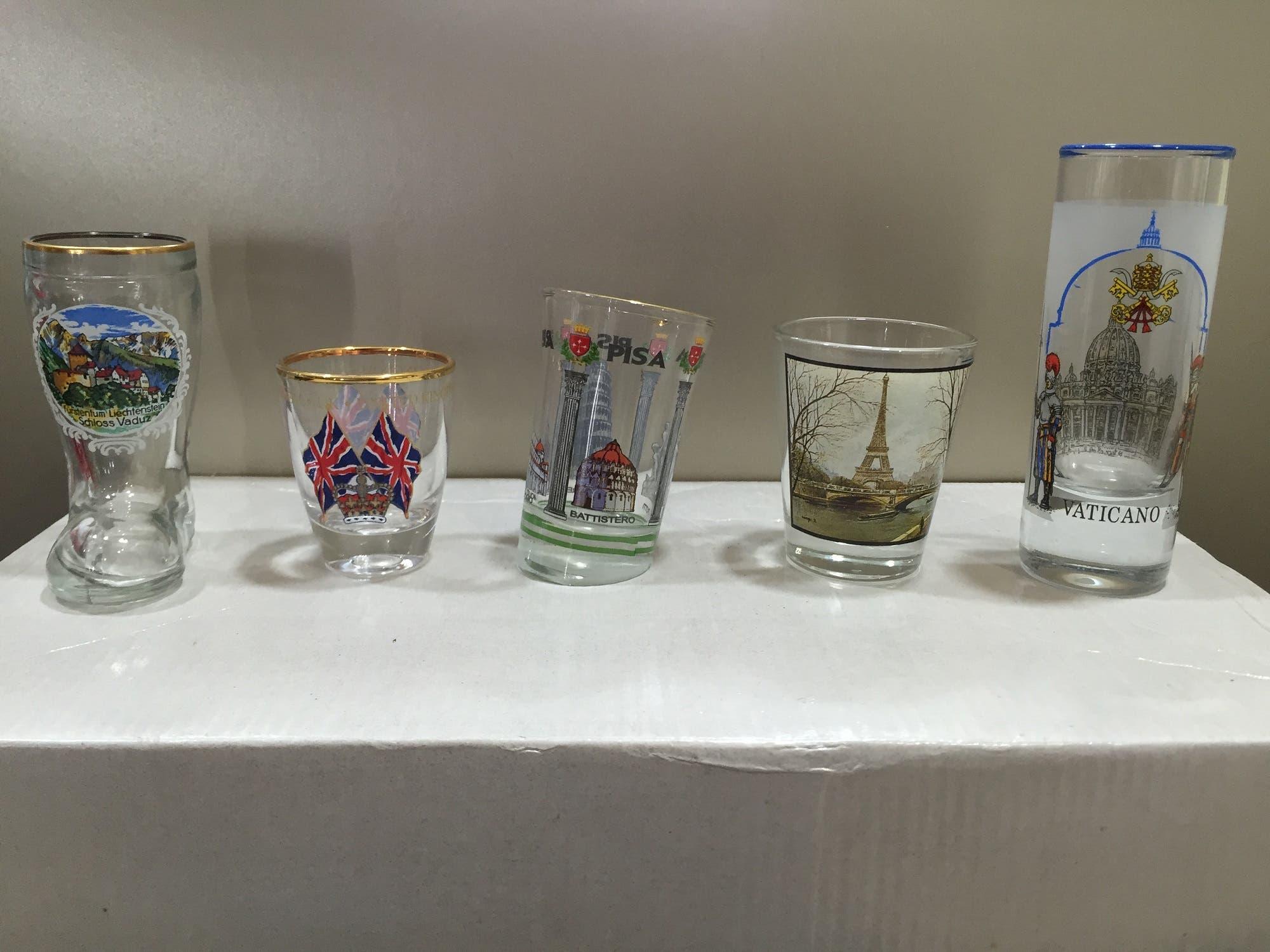 Many shot glasses have strange shapes. (Supplied)