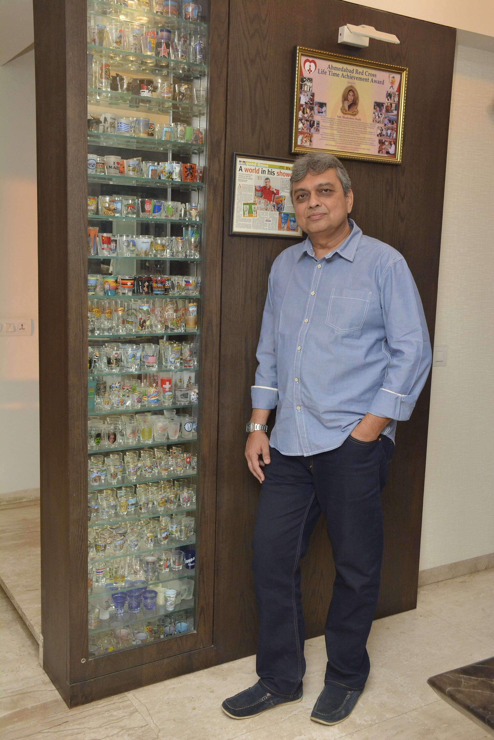 Doshi's 18-layer showcase is the envy of many visitors. (Supplied)