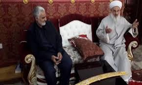 الصمیدعی در کنار قاسم سلیمانی فرمانده سپاه قدس شاخه برون مرزی سپاه پاسداران ایران