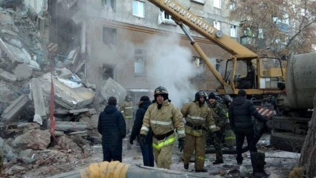russia building gas explosion