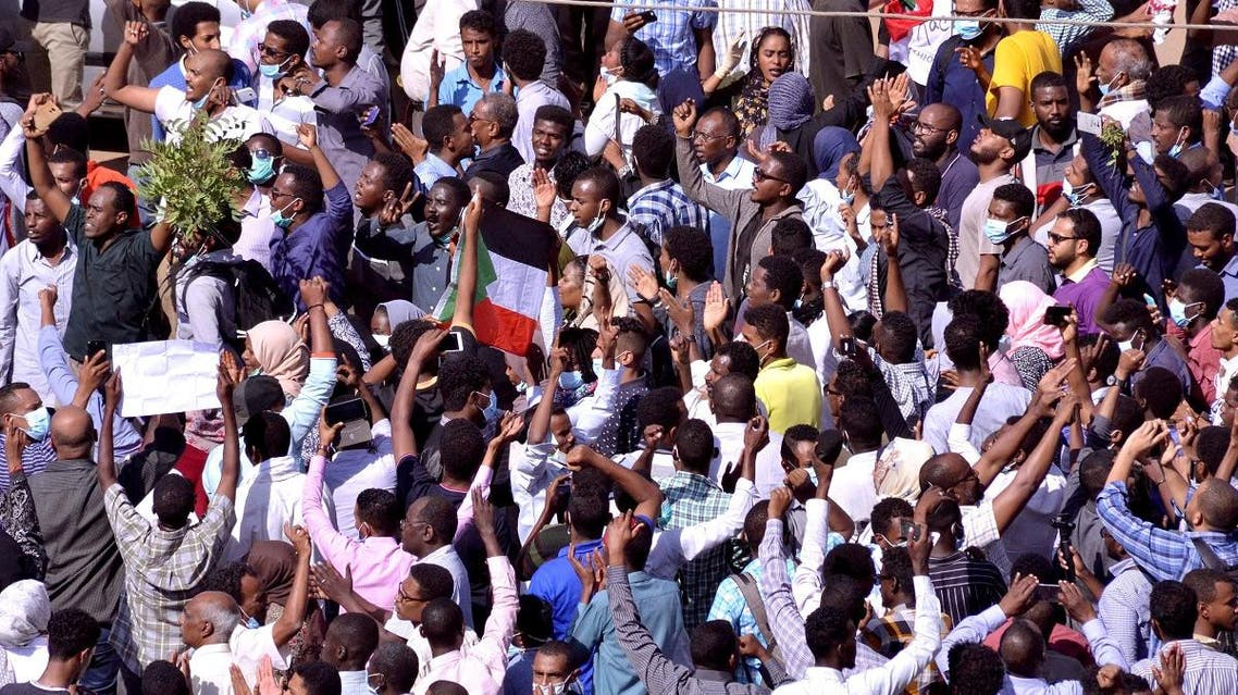 Sudan protests. (Reuters)