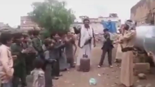 WATCH: Yemeni man dances to celebrate getting a gas tank from Houthis