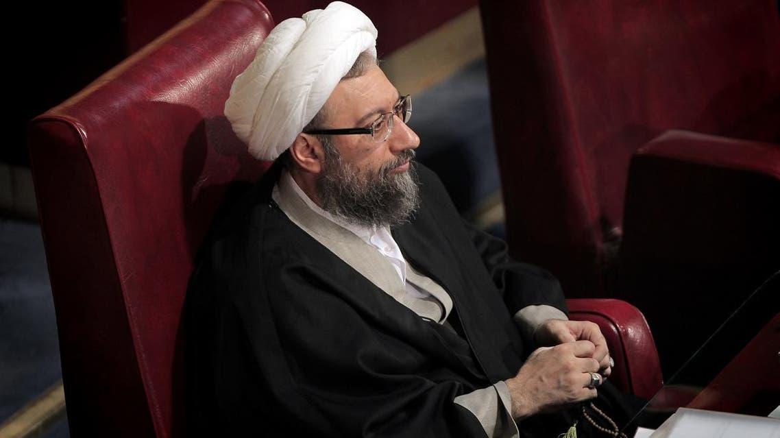 Iran hardline cleric Ayatollah Sadeq Amoli Larijani (AFP)