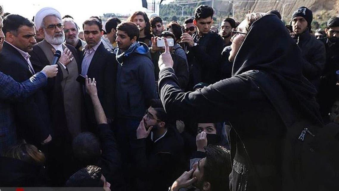 Irani Student protesting in University