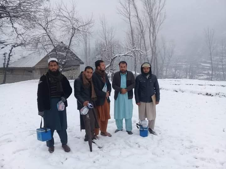 Polio team on their way to administered polio drops to children in Khyber Pakhtunkhwa. (Supplied)
