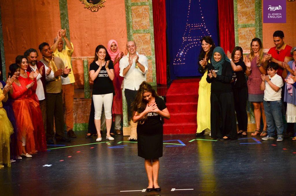 Italian theater actress in Saudi. (Al Arabiya)