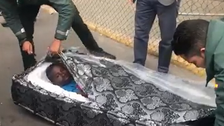 WATCH: Migrants hiding in mattresses caught at Spanish border