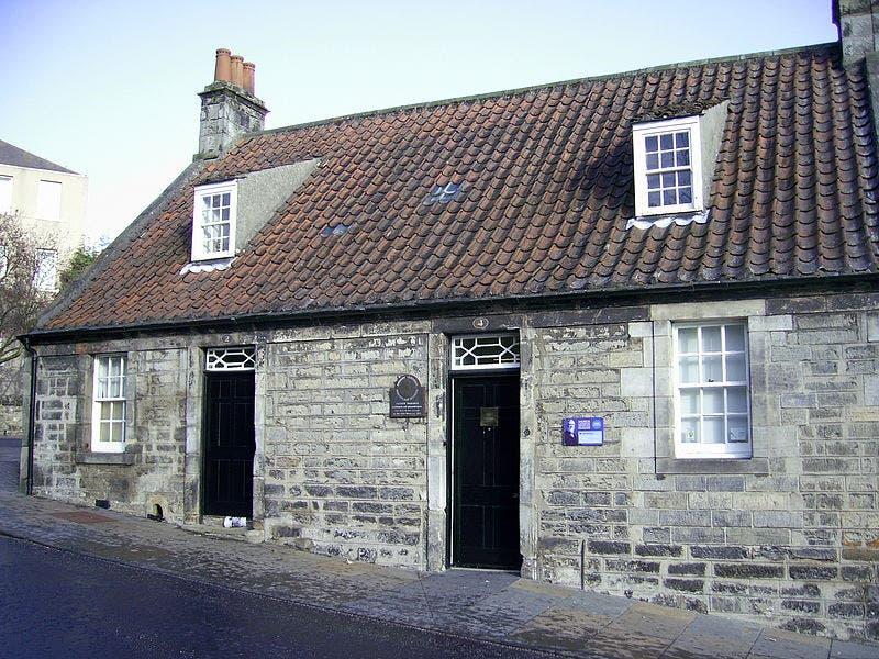 صورة للمكان الذي ولد به كارنيجي بأسكتلندا سنة 1835