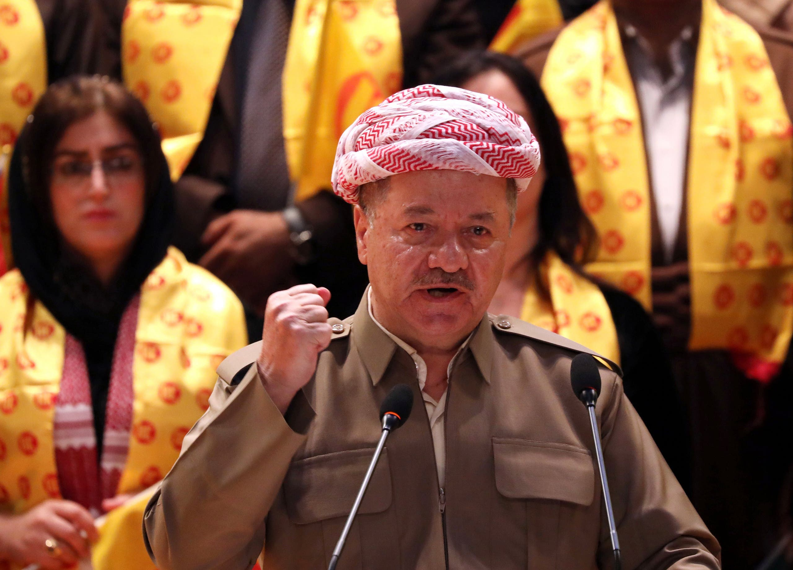 Massud Barzani in Arbil on September 11, 2018. (AFP)