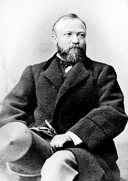 صورة لأندرو كارنيجي التقطت سنة 1878