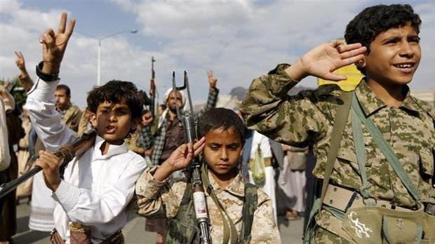 أطفال جندهم الحوثيون