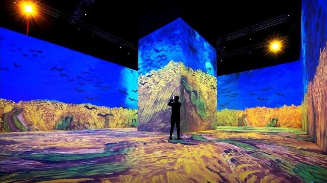 Panoramic view of Van Gogh paintings at 'Tantoura Winter' festival