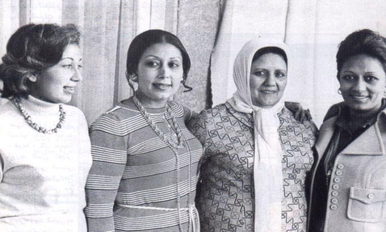 بنات السادات مع زوجته الأولى