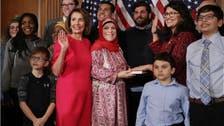 امریکا : نئے ایوان نمائندگان کے پہلے اجلاس میں فلسطینی لباس اور قرآن کریم