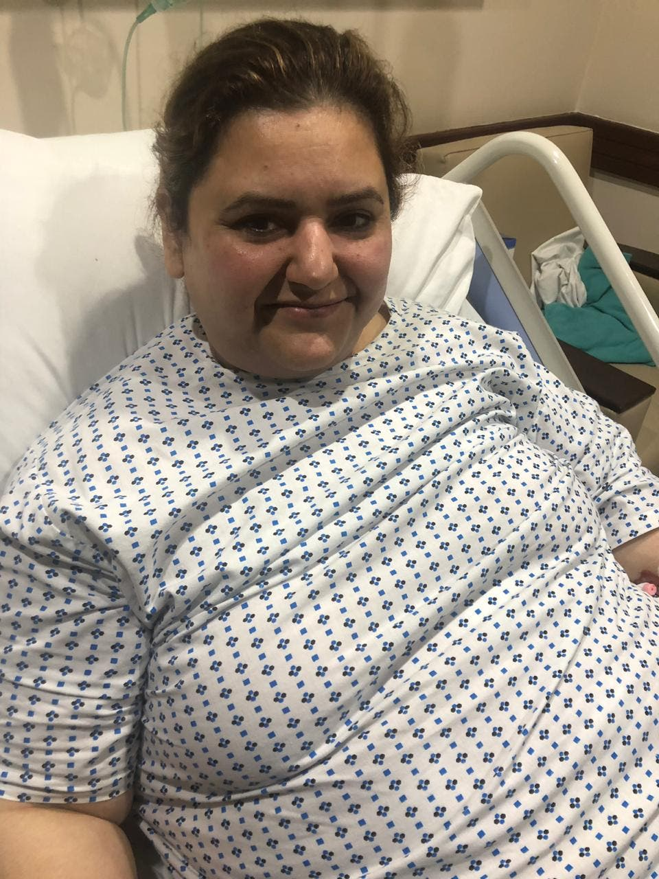 Susan recovering after surgery. (Supplied)