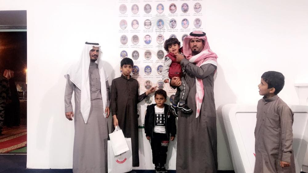 The wall of honor was part of the exhibits showcased by the Presidency of State Security on the occasion of Hail International Rally. (Saudi Gazette)