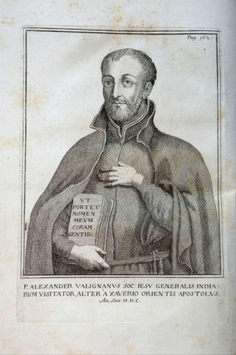 رسم تخيلي للمبشر اليسوعي الإيطالي أليساندرو فاليغنانو