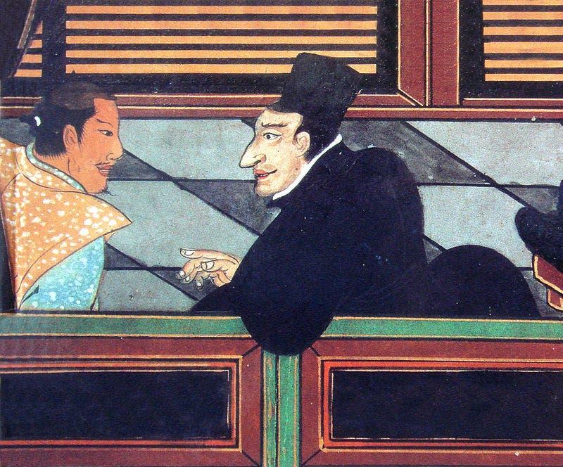 رسم تخيلي للمبشر البرتغالي لويس فرويس