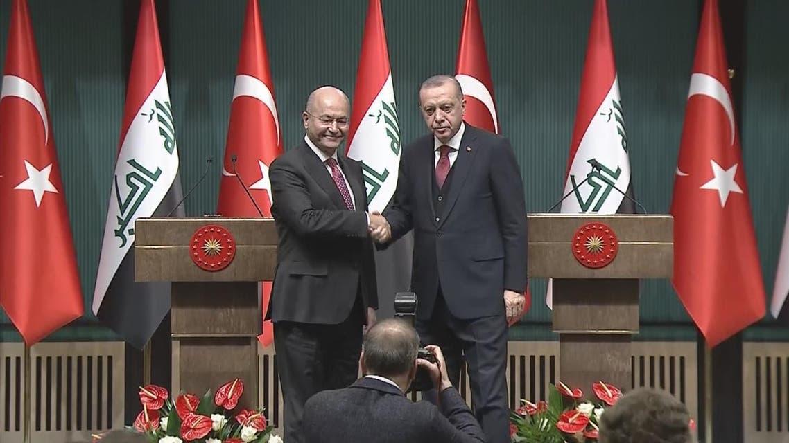 THUMBNAIL_ الرئيس العراقي يجري محادثات في أنقرة مع نظيره التركي