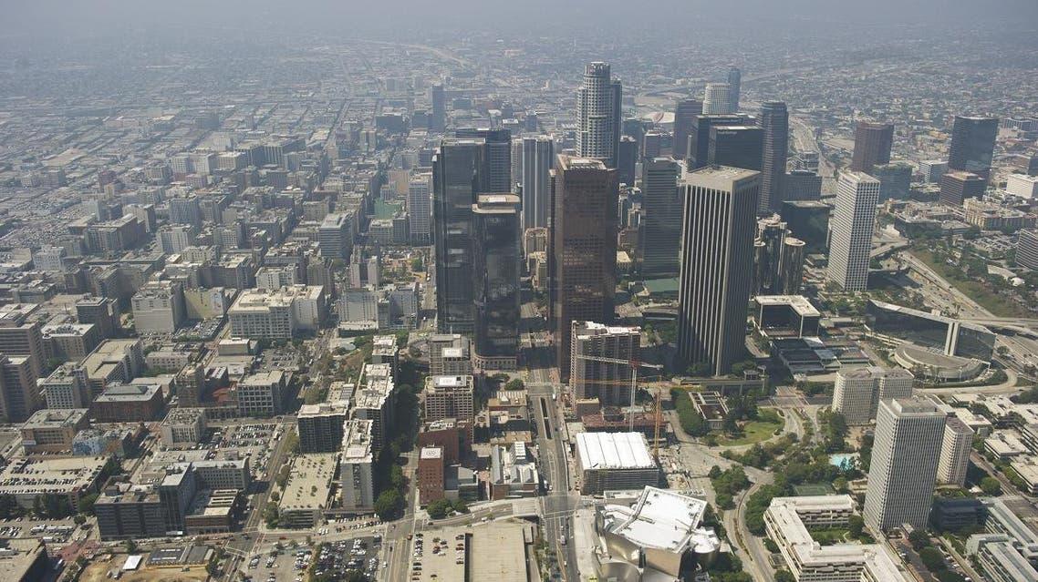 Aerial view Los Angeles California. (AFP)