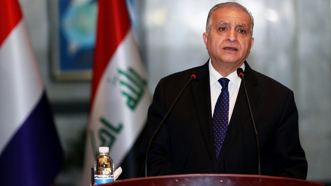 Mohamed Ali Alhakim, Iraq's Foreign Minister, speaks during a news conference at the Foreign Ministry in Baghdad, Iraq December 17, 2018. REUTERS/Thaier al-Sudani