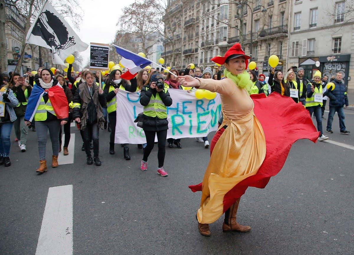 France Yellow Vest women 3 (AP)