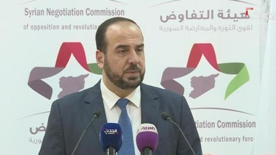 Nasr al hariri Syria opposition (Screen grab)