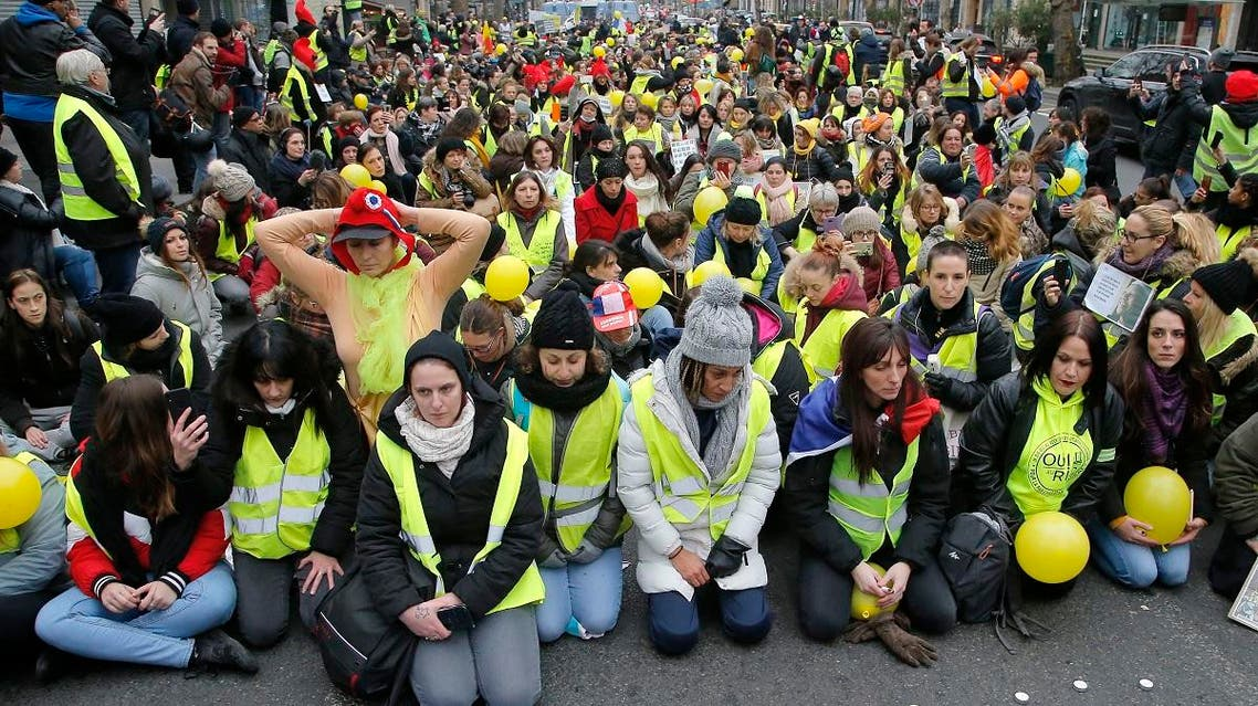 France Yellow Vest women 2 (AP)
