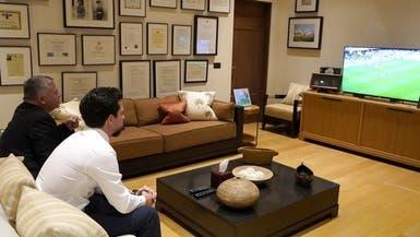 صورة.. العاهل الأردني وولي عهده يتابعان مباراة أستراليا