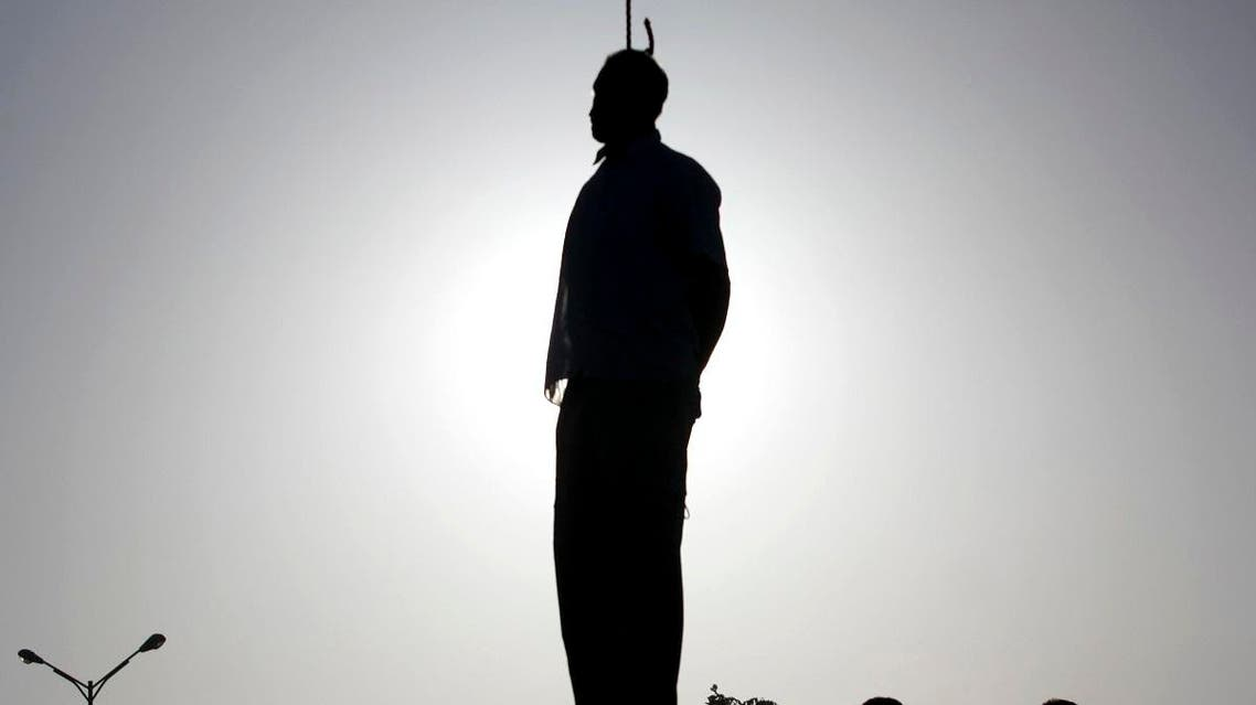 In this May 26, 2011 file photo, the body of convicted man Mahdi Faraji hangs at the city of Qazvin about 80 miles (130 kilometers) west of the capital Tehran, Iran. (AP)
