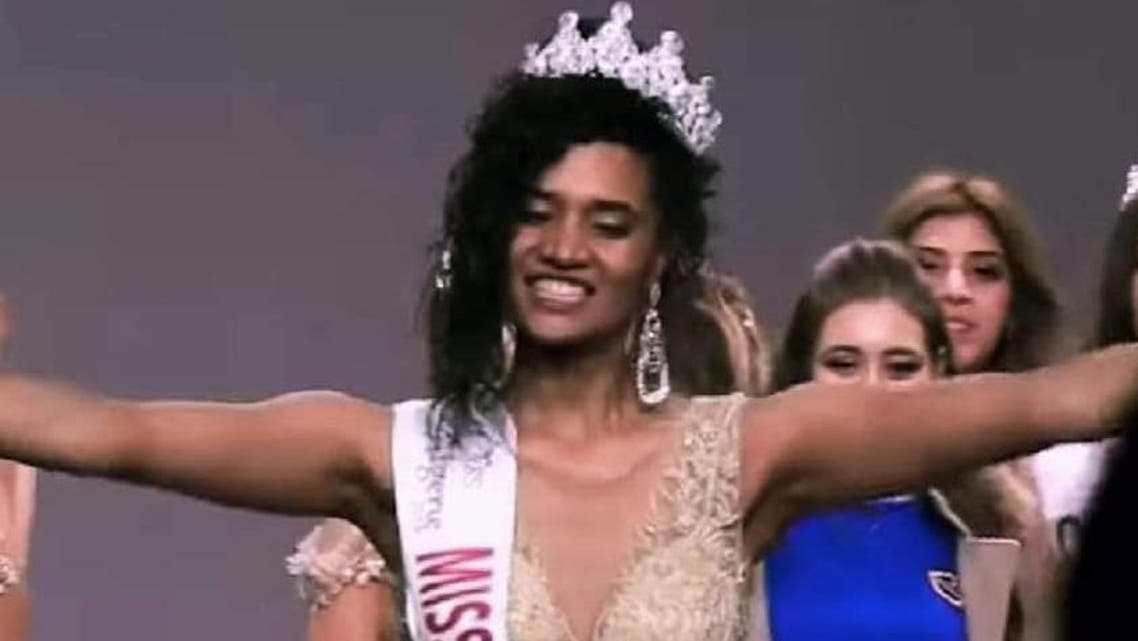 Khadija Ben Hammou has had to keep up with a huge wave of bullying and racist comments since her crowning as Miss Algeria 2019. (Al Arabiya)