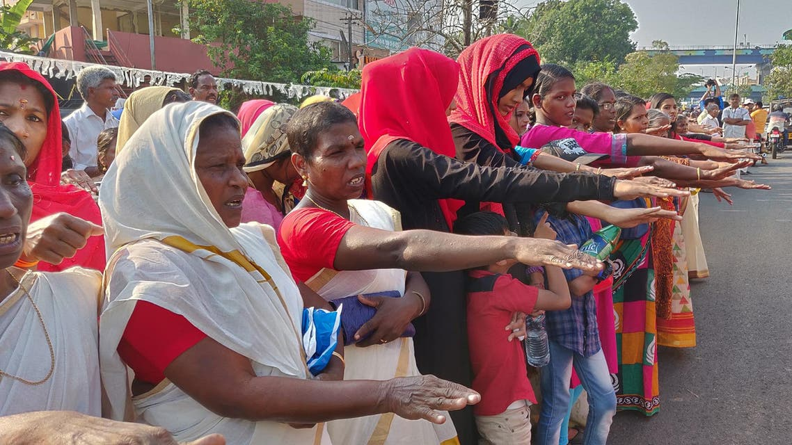 More than 3.5 million women formed a human chain across the south Indian state of Kerala last week. (Supplied)