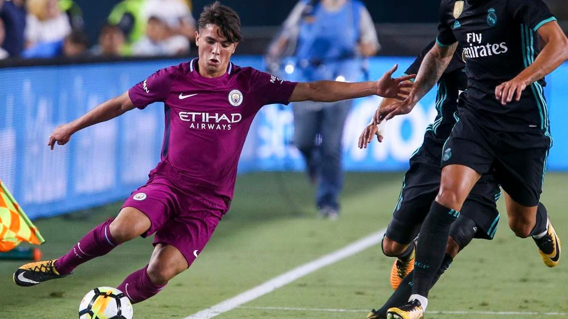 Manchester City midfielder Brahim Diaz, controls the ball against Real Madrid during the second half of the International Champions Cup match in Los Angeles. (File photo: AFP)