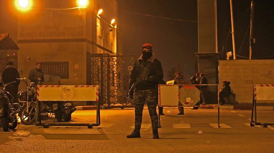 Hamas guard on Rafah border crossing with Egypt (AFP)
