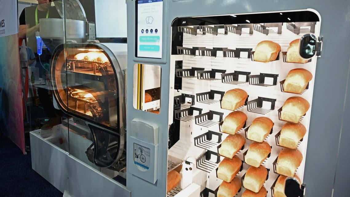 Breadbot mixes, kneads, proofs, bakes and sells bread like a vending machine. (AFP)