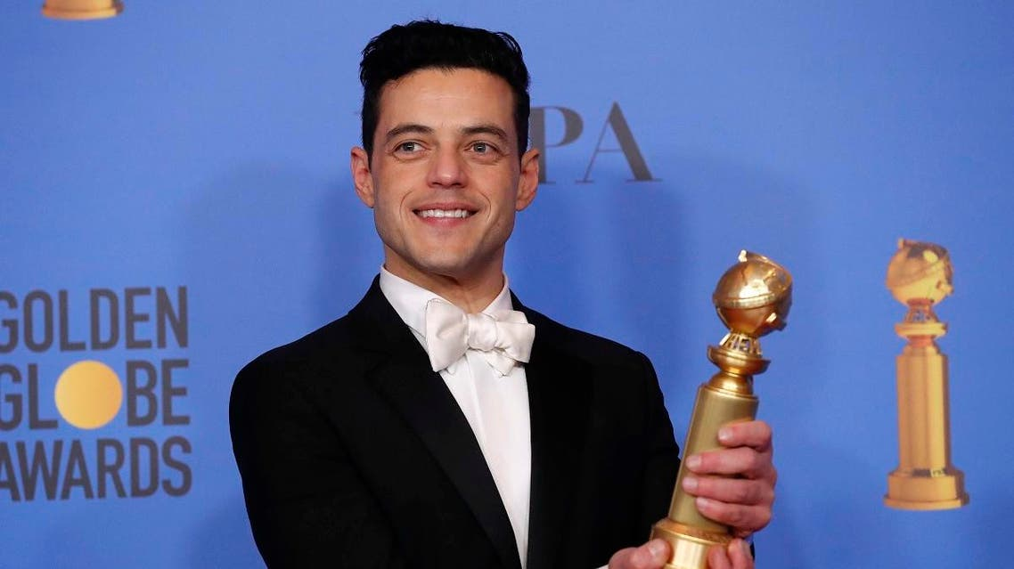 "Rami Malek poses with his Best Performance by an Actor in a Motion Picture - Drama for ""Bohemian Rhapsody"". (Reuters)"